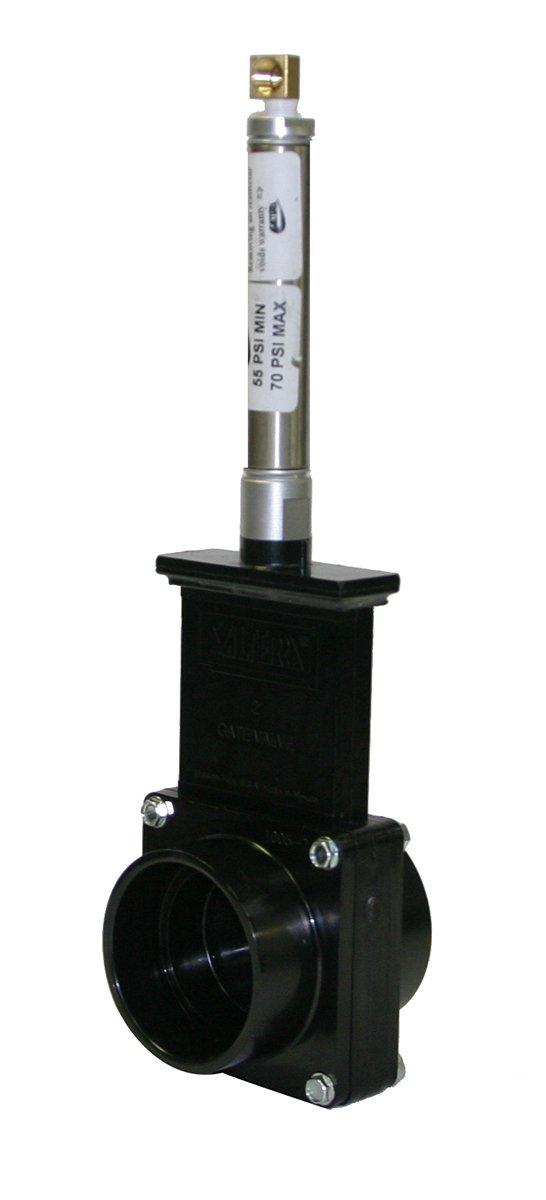 Valterra 9201 ABS Gate Valve, Black, 2'' Slip, Metal Air Cylinder