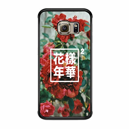 Cover Bts Papillon 2 Samsung Galaxy S6 Edge Plus Cover Case (Noir Plastic)