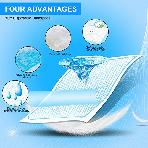"Baby Disposable Changing Pad, 100Pack Soft Waterproof Mat, Portable Diaper Changing Table & Mat, Leak-Proof Breathable Underpads Mattress Play Pad Sheet Protector(13"" 18"")"