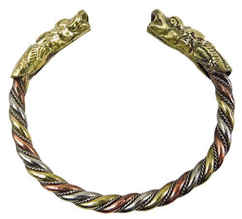 (Handmade Three Metal Medicine Dragon Bracelet From Nepal)