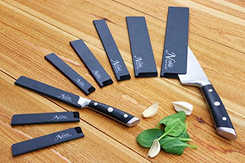 8-Piece Universal Knife Edge Guards are More Durable, BPA-Free, Gentle on Your Blades, and Long-Lasting. Noble Home & Chef Knife Covers Are Non-Toxic and Abrasion Resistant! (Knives Not Included) by Noble Home & Chef (Image #3)