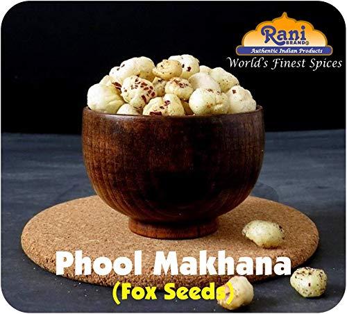 Rani Phool Makhana (Fox Nut / Popped Lotus Seed) 3.5oz (100g) ~ Plain Raw Uncooked | ~ All Natural | Vegan | No Colors | Gluten Friendly | NON-GMO | Indian Origin