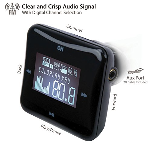 SCOSCHE Digital FM Transmitter with Card Reader and USB Port