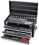 KS Tools 918.0100 Coffre à outils BLACKplus équipé - 3 tiroirs et plateau - 100 pcs