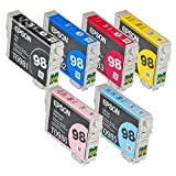 Full SET (6 Cartridges) 98 High Capacity Genuine Cartridges for Epson Artisan 700 800 710 810