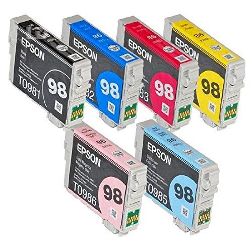 Full SET (6 Cartridges) 98 High Capacity Genuine Cartridges for Epson Artisan 700 800 710 810