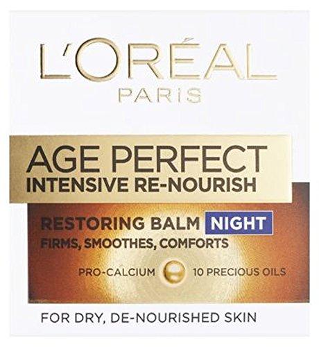 ドライデ栄養を与え肌の50ミリリットルのためのL'Oreallパリ真皮専門知識集約的な再ナリッシュ復元ナイトバーム (L'Oreal) (x2) - L'Oreall Paris Dermo-Expertise Intensive Re-Nourish Restoring Night Balm For Dry and De-Nourished Skin 50ml (Pack of 2) [並行輸入品] B01N01WK5G