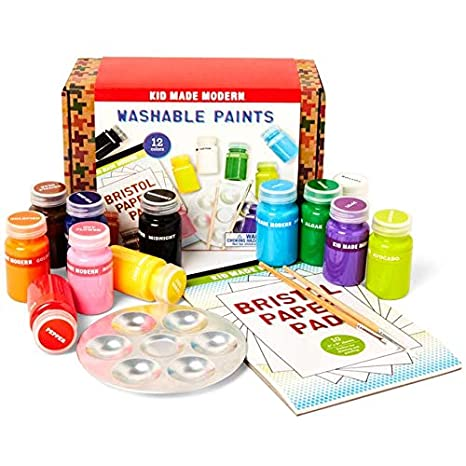 ae81f5eba Amazon.com: Kid Made Modern Washable Paint Set - Acrylic Paint Set for Kids  | 12 Assorted Colors: Toys & Games