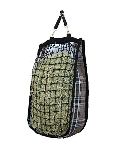 Brass Natural Feeder - Kensington Slow Feed Mesh Net Feeder for Horses - Designed to Hold Two Large Flakes -  Reduce Horse Feeding Anxiety and Behavioral Issues
