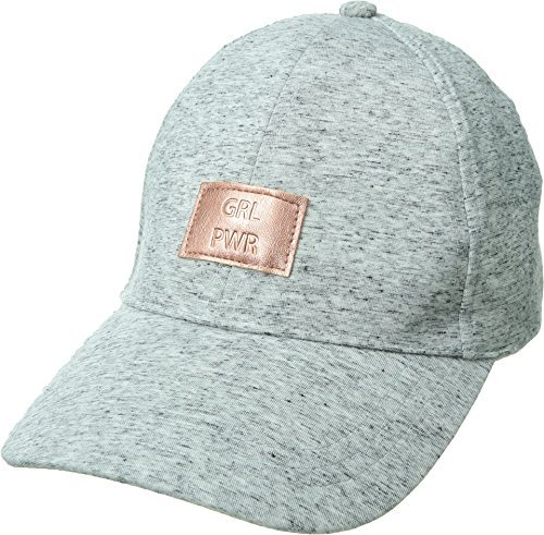 BCBGeneration Women's Embossed Heather Baseball, Heather Grey, One Size (Embossed Spandex Hat)