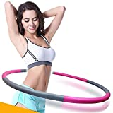 Hula Hoop - Professional Increase Hula Hoop Fitness Weight Loss Workout Equipment Removable 6-Stage Portable Sports Hoop Weight Loss Body Sculpting Foam Filled Professional Hula Hoop (Weighted 2 lbs 90cm Wide)by Newpurslane