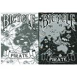 Bicycle Pirate Playing Cards 2 Deck Set 1 Black & 1 White