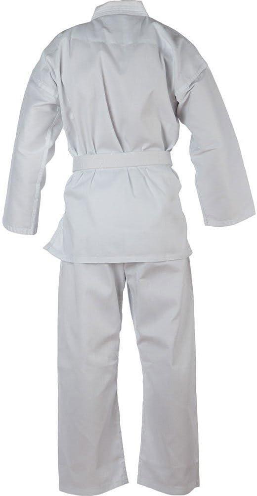 cintur/ón Blanco Gratis Ligero polialgod/ón Traje de Karate para ni/ños Uniforme Blanco Blitz