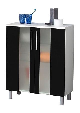 Scouts Armario baño II klivia Armario baño muebles negro puertas estantes de cristal