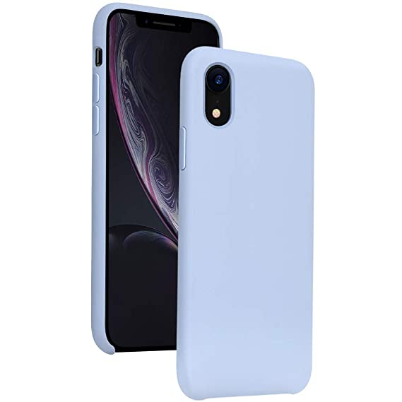 quality design 9e022 c840b DIACLARA iPhone XR Case Silicone, 6.1'' iPhone 10R Hybrid Cases Classic  Bumper Shockproof Drop Protective Cover for Apple iPhone 2018(Purple, 6.1)