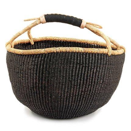 (Basic Bolga Basket - Black)