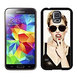 Fashion Antiskid Custom Designed Cover Case With Miley Cyrus (2) For Samsung Galaxy S5 I9600 G900a G900v G900p G900t G900w Black Phone Case 287