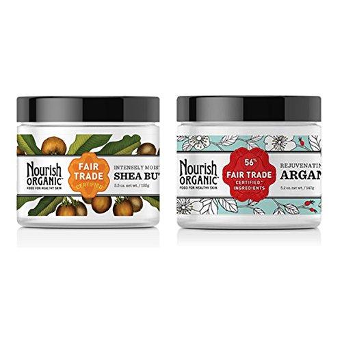 Nourish Organic Fair Trade Shea Butter and Nourish Organic A