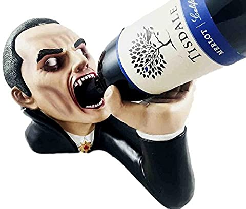 Count Drakul Vampire Dracula Elixir of Blood Wine Bottle Holder Figurine (True Blood Gifts)