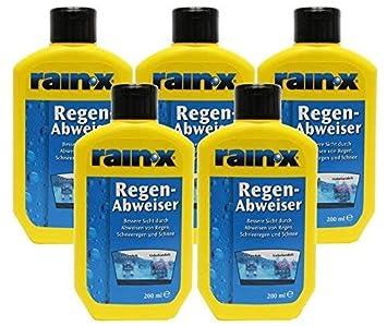 Rain X Repelente de Agua de Lluvia para Parabrisas de Coche Limpiaparabrisas 200 ml - 5 Unidades: Amazon.es: Coche y moto