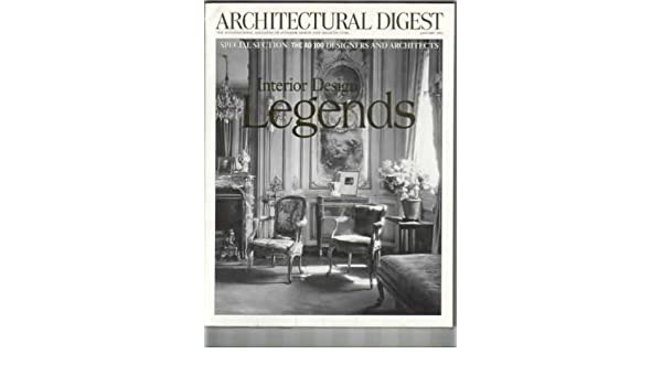 Architectural Digest January 2000 Interior Design Legends Special