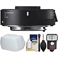 Sigma TC-1401 1.4x Teleconverter with Flash + Diffuser + Kit for Canon EOS Digital SLR Cameras