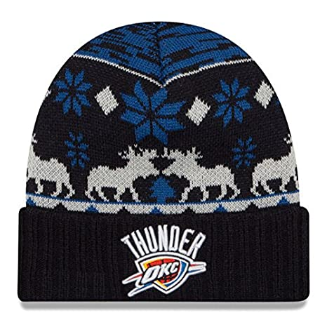 b7dc1950e95 Image Unavailable. Image not available for. Color  Oklahoma City Thunder  New Era NBA Mosser Cuffed Knit Hat Blue