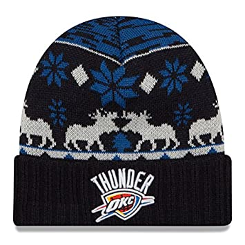 6e217b2965e ... usa oklahoma city thunder new era nba mosser cuffed knit hat blue 3574a  b6280