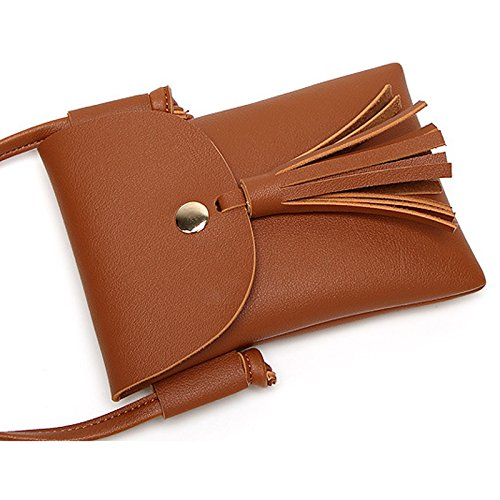 Small PU Retro Bag Bag Leather Donalworld Crossbody Phone Yellow dwaIWqgc