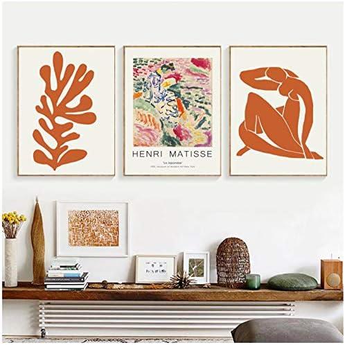 HNZKly Abstrakte Kurve Geometrie Poster Matisse Leinwand Gem/älde Bunte Stil Poster und Kunstdrucke Wand Bilder Wohnzimmer Schlafzimmer Esszimmer B/üro Shop Home Decor Art