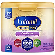 Enfamil NeuroPro Gentlease Baby Formula Gentle Milk Powder, 20 Ounce (Pack of 1) - MFGM, Omega 3 DHA, Probiotics, Iron & Immune Support