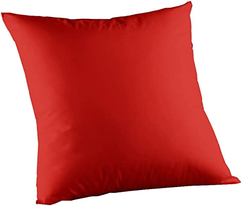 Patch Magic Red Bright Solid Toss Pillow, 16-Inch by 16-Inch