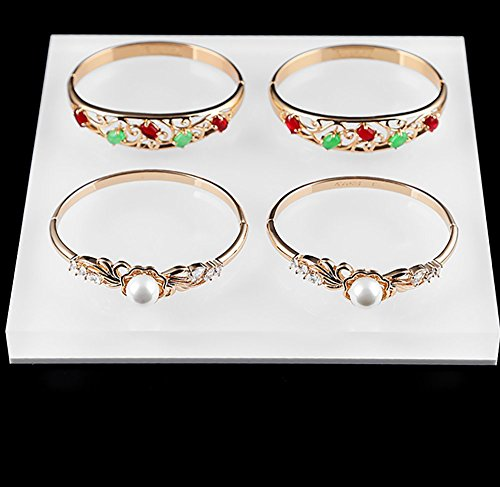 Acrylic Jewelry Display Platform Stand Holder White Fine Exhibition Fashion Store Gallery Trade Show White (Set of 3) by Svea Display (Image #7)