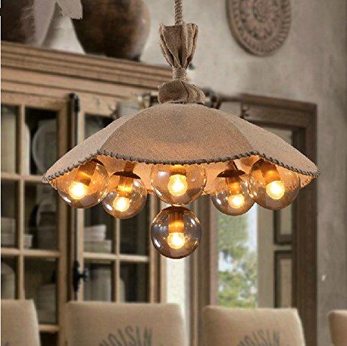 Kreativ Dach Vintage Leinen Garn Restaurant Café Bekleidungsgeschäft dekoriert den Wohnzimmer-Leuchter
