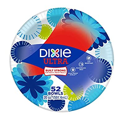 Dixie Ultra 20oz Disposable Paper Bowls, 52 Count