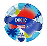 #6: Dixie Ultra Disposable Bowls, Pack of 52 Count, Holds Up to 20 Ounces, Hot and Cold Paper Bowls; Designs May vary