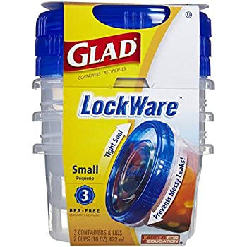 Glad Lockware Containers, Small, 3 Per Pack