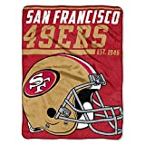 """Officially Licensed NFL San Francisco 49ers """"40 Yard Dash"""" Micro Raschel Throw Blanket, 46″ x 60″, Multi Color"""