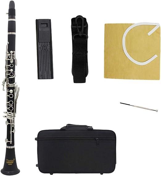 SUPVOX b clarinete plano principiante clarinete estudiantil con estuche correa cuidado kit música instrumento educativo para músicos (negro): Amazon.es: Iluminación