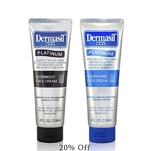 5143cY9ZrQL - Advanced Day & Over Night Face Cream Dermasil Platinum Dermatologist Recommended Anti-Aging Treatment, Nourishing & Moisturizing 2-in-1 Relief, Protection & Repair Cream for Dry Skin (Pack of 2)