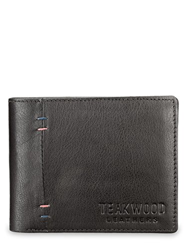 Teakwood Handcrafted Real Genuine Leather Extra Capacity Slimfold Bifold Wallet For Men