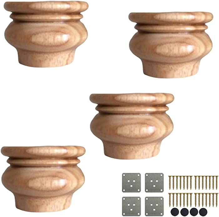 Top 10 Unfinished Wooden Legs For Furniture Set Of 4