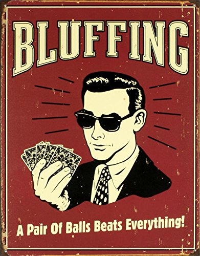 Poker Bluffing Everything Distressed Vintage product image