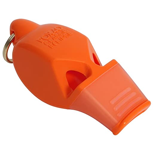 6 opinioni per Fox 40 Eclipse Non-Glow Whistle with Breakaway Lanyard, Orange