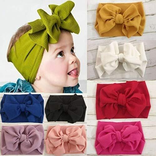 Kaimu High Elasticity Baby Headband Creative Solid Bow Headwear Hair Accessory Gift Hair Accessories ()