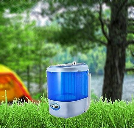 Kompakte Mini Waschmaschine Camping Waschmaschine Miniwaschmaschine Toplader (blau) WTC
