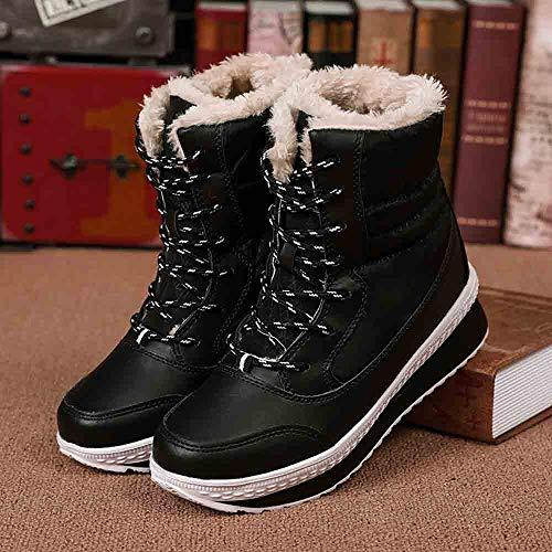 Calde Invernali In Donne Scarpe Imbottiti Tengono Metà Più Black Donna Da Le A Polpaccio stivali Velluto Stivali qTPw4YS