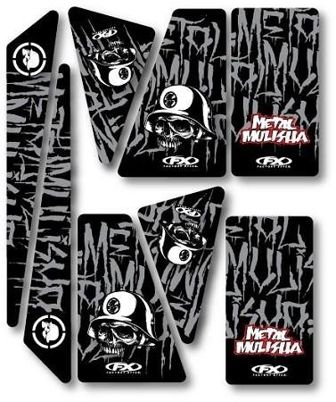 04-09 YAMAHA YFZ450: 2011 FACTORY EFFEX UNIVERSAL QUAD TRIM KIT - METAL MULISHA -
