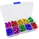 300pcs Colored Jingle Bells Small Bell Mini Bells Bulk with Clear Box for Halloween Christmas Wedding Decoration and Jewelry Making