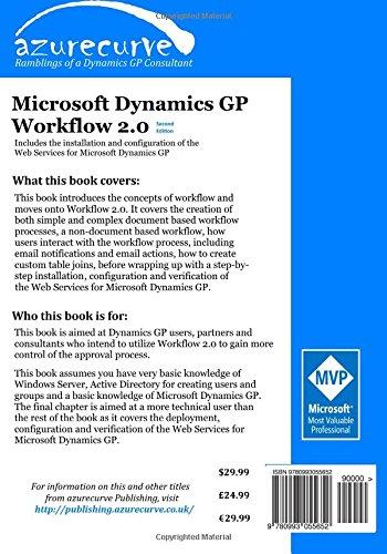 Amazon.com: Microsoft Dynamics GP Workflow 2.0 Second Edition ...